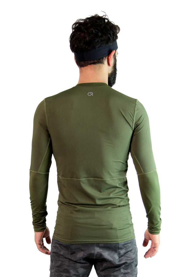 Tech Long Sleeve Militar Green