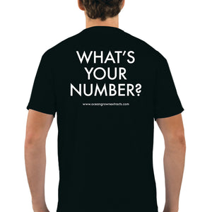"""What's Your Number"" Men's Shirt - Black"