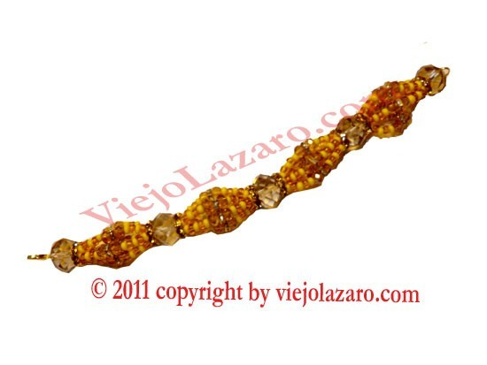Oshun Ide in Glass Beads