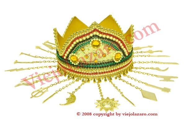 Beaded crown of Oshun (Ibu kole)
