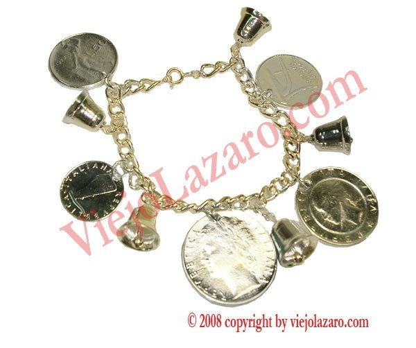Bracelet of Money and Bells (in silver)