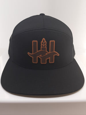 Hillside Harvest 7 Panel Logo Cap - Black
