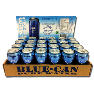 12oz Blue Can - Premium Emergency Drinking Water w/ 50 year Shelf Life