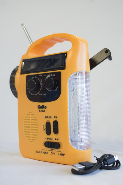 Solar & Crank AM/FM Emergency Radio with LED Lantern & Flashlight