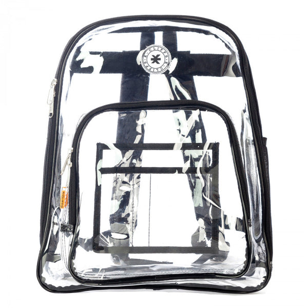 "Deluxe 17"" See-through clear 0.5mm PVC backpack"