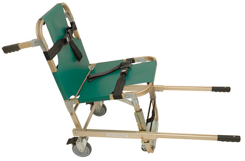Evacuation Chair with Extended Handles & Four Wheels