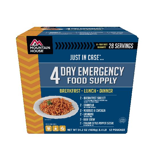 "Mountain House ""Just In Case"" 4 Day Emergency Food Supply Kit"