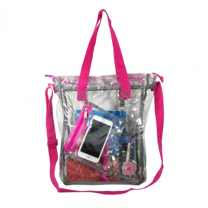 "15.5"" See-through clear 0.5mm PVC Messenger Bag"