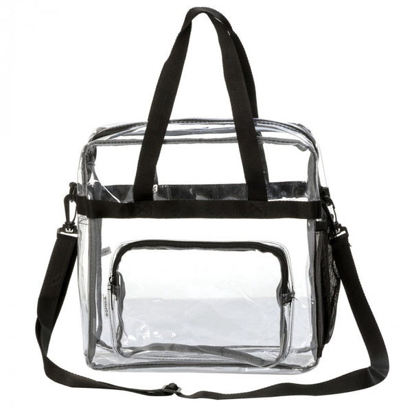 12 Inch Transparent Clear PVC Stadium Approved Top Handle Tote Bag