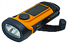Solar/Crank Waterproof Flashlight