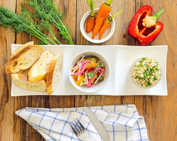 Salmon Rillettes with Pickled Vegetables