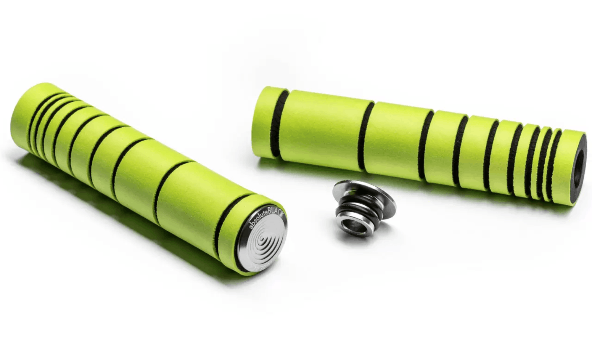 ABSOLUTEBLACK Premium Silicone Dual Density MTB Grips (Green)