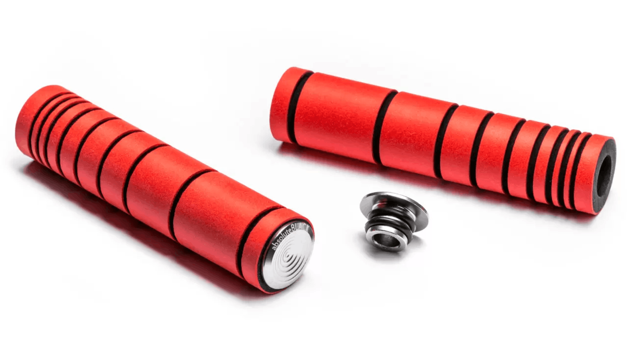 ABSOLUTEBLACK Premium Silicone Dual Density MTB Grips (Red)