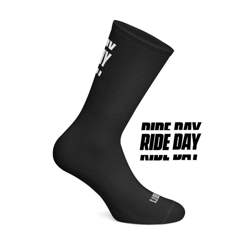 ÇOIS Thank God it's Rideday cycling socks Black