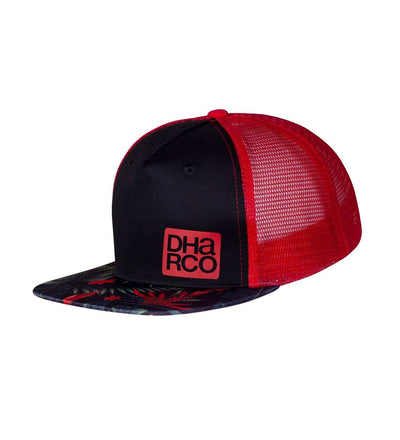 DHaRCO Flat Brim Trucker Cap for Kids - Tropical