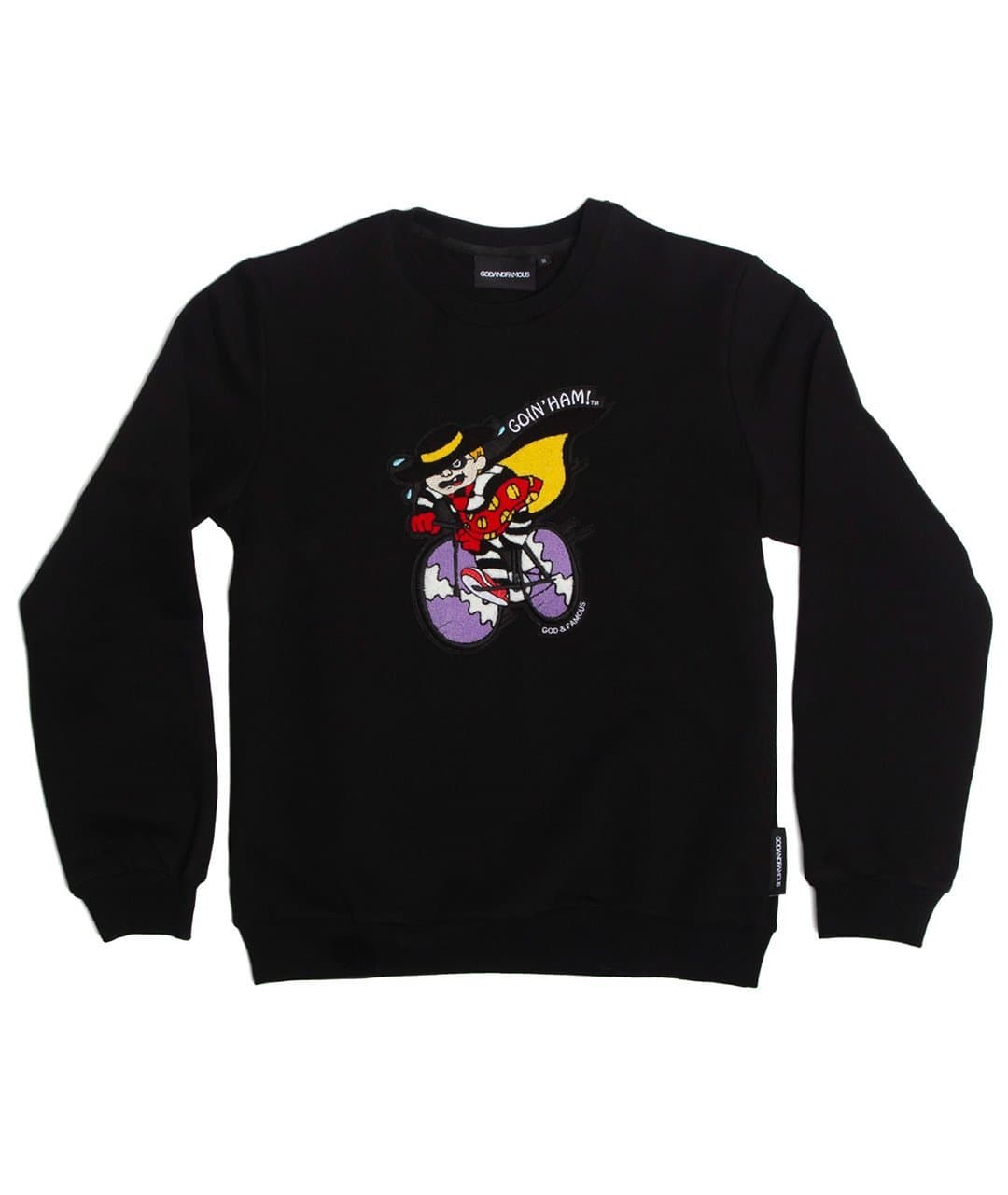 GOD & FAMOUS Ham Crewneck Sweatshirt Black