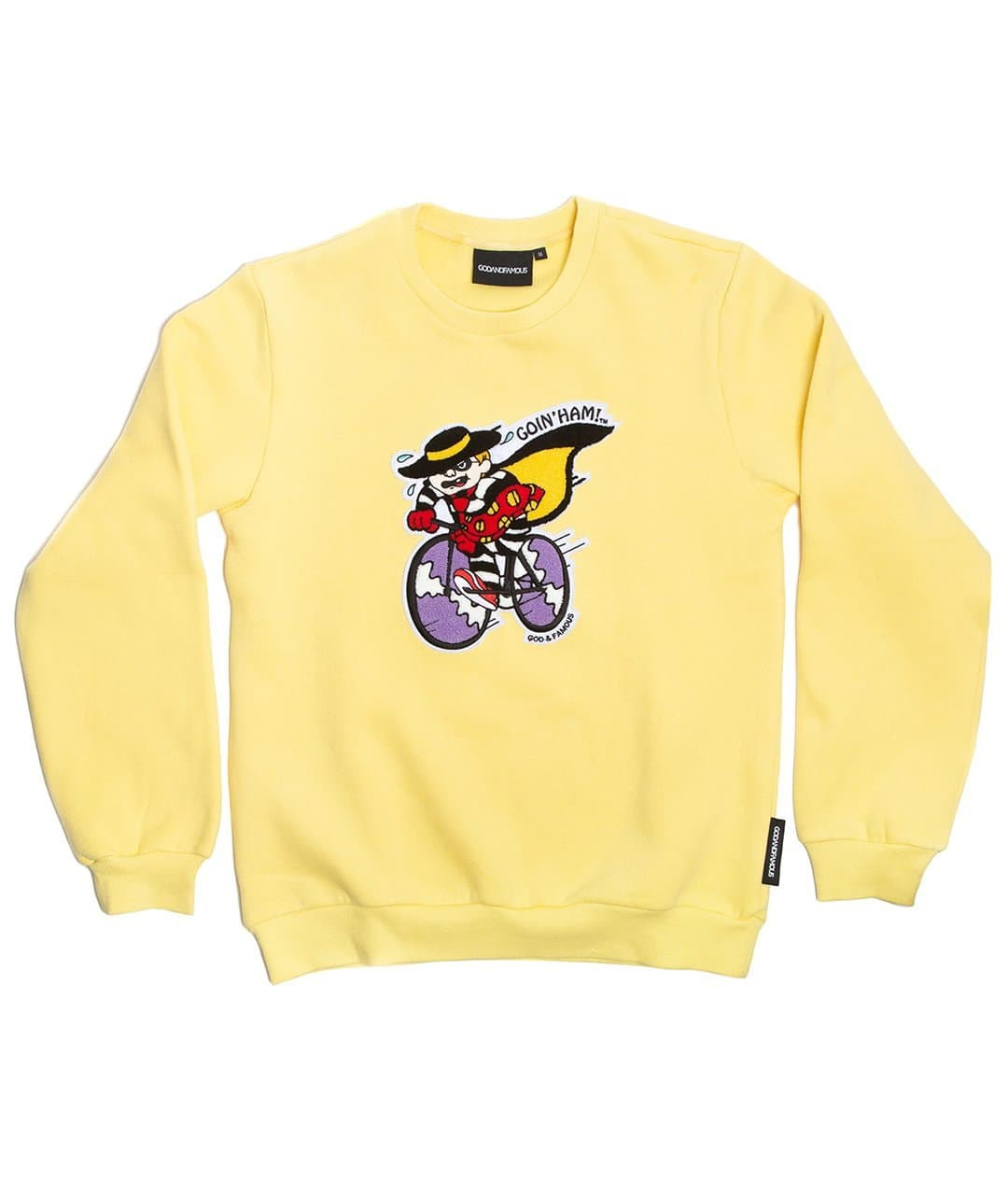 GOD & FAMOUS Ham Crewneck Sweatshirt Yellow
