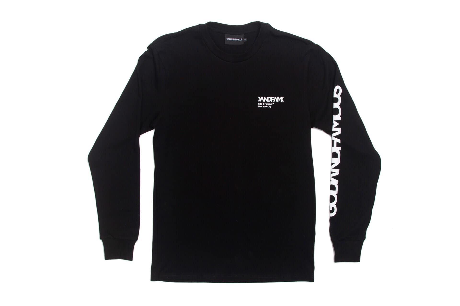GOD & FAMOUS Team Black Long-Sleeved T-shirt