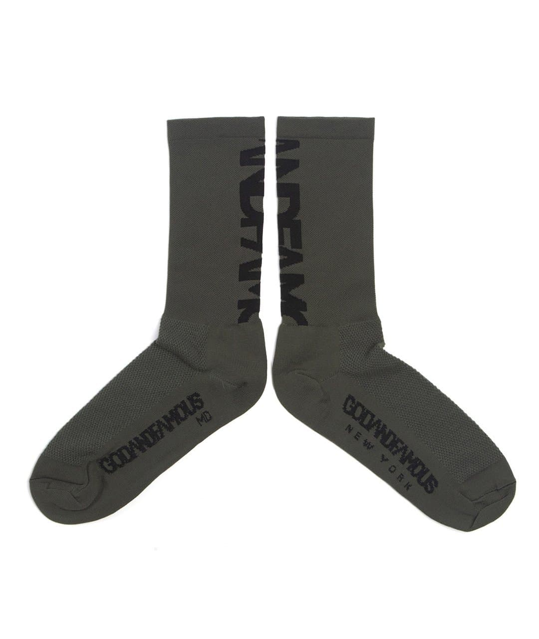 GOD & FAMOUS Team Sock Olive