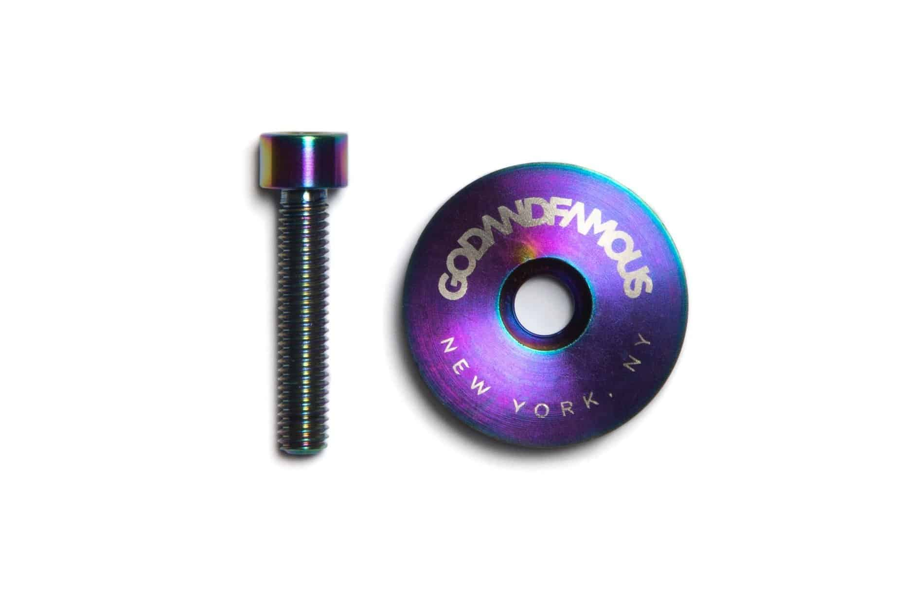 GOD & FAMOUS Team Titanium Top Cap Oil Slick