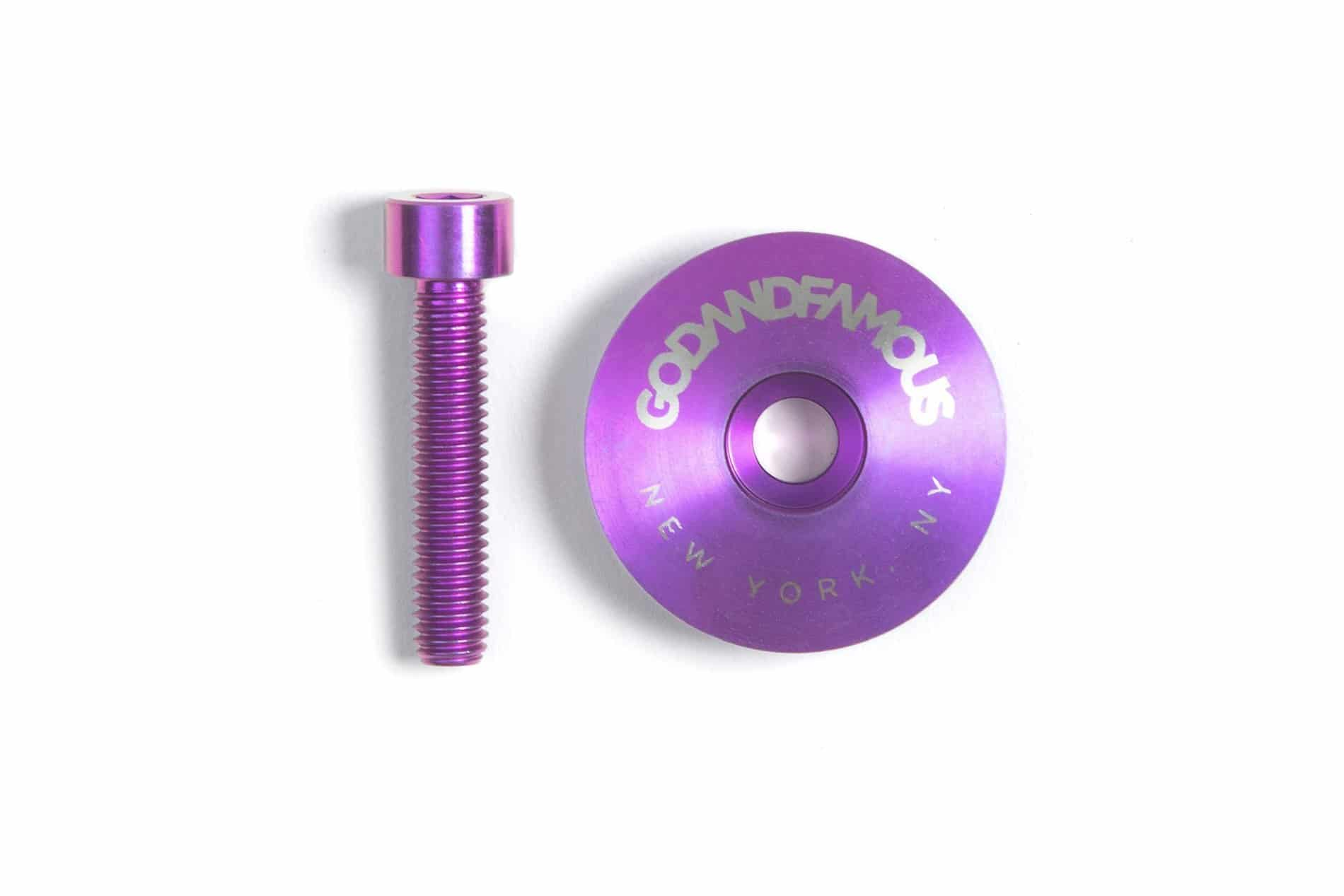 GOD & FAMOUS Team Titanium Top Cap Purple