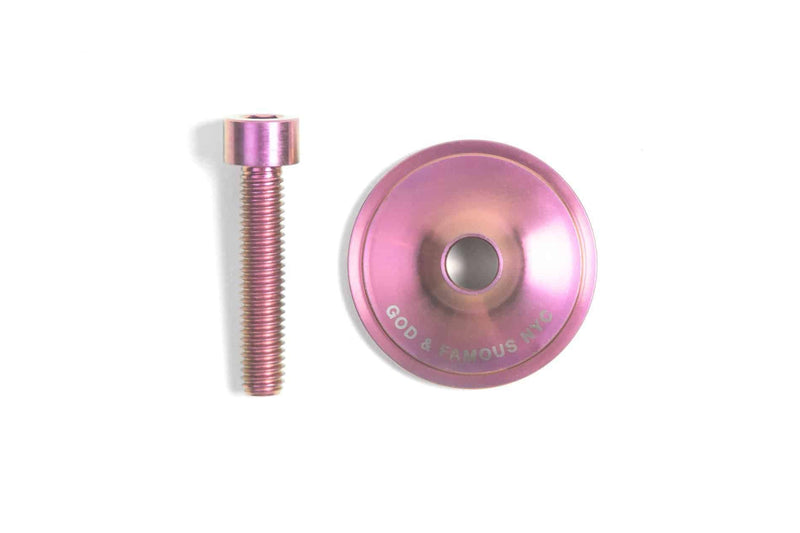 GOD & FAMOUS Team Titanium Top Cap Soft Pink