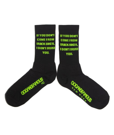 GOD & FAMOUS Trust Socks (Black)