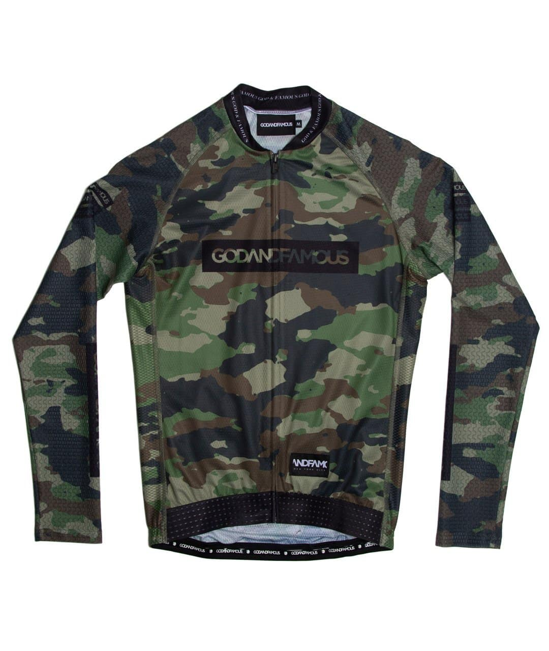 GOD & FAMOUS Woodland Camo LS Jersey