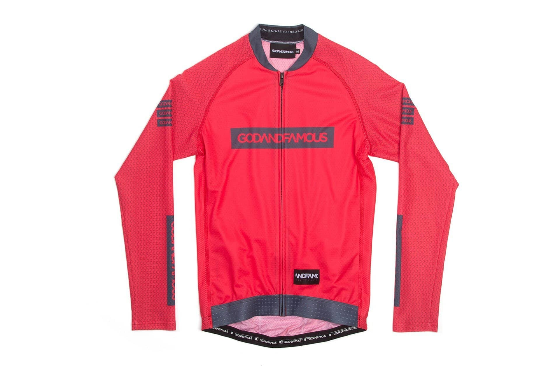 GOD & FAMOUS 'Kinda Orange' Long Sleeve Jersey