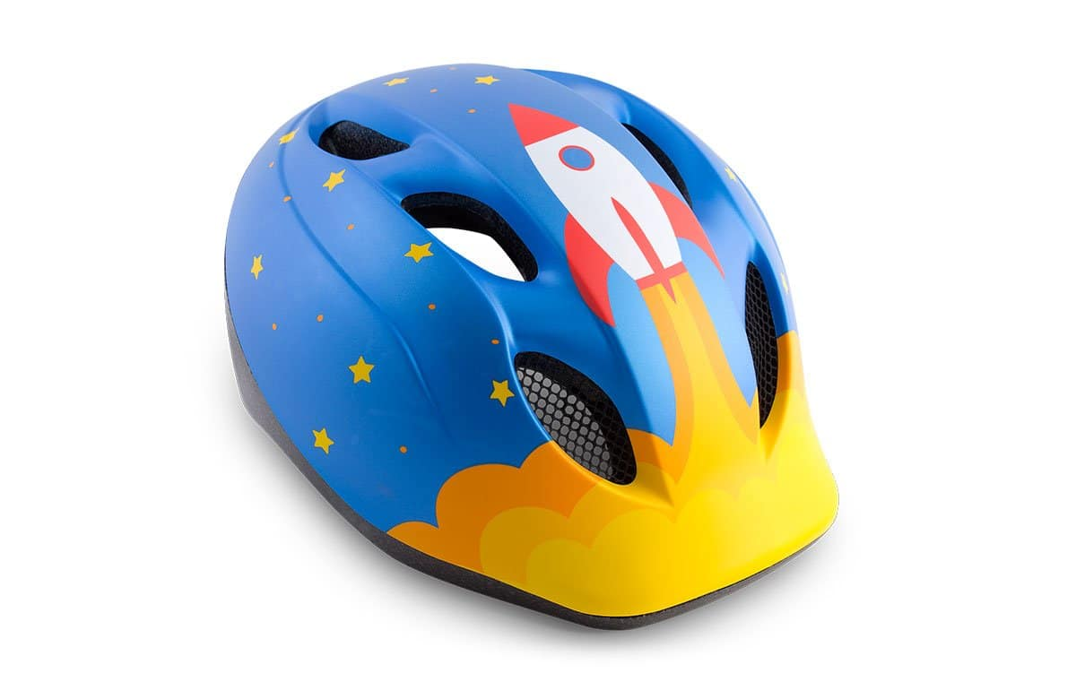 MET Buddy Kids' Helmet Unisize (Blue Rocket)