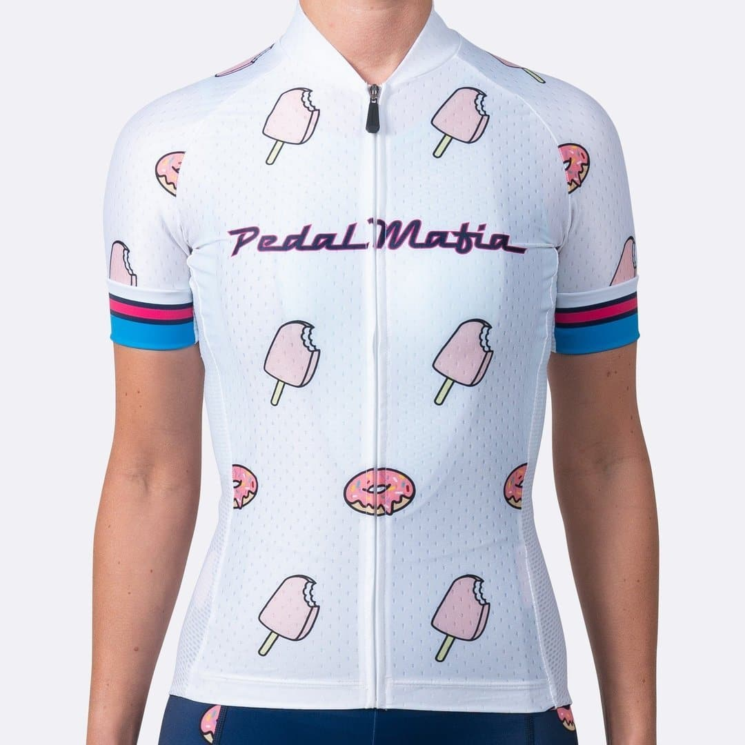 PEDAL MAFIA Artist Series Cycling Jersey - Ice Cream White for Women
