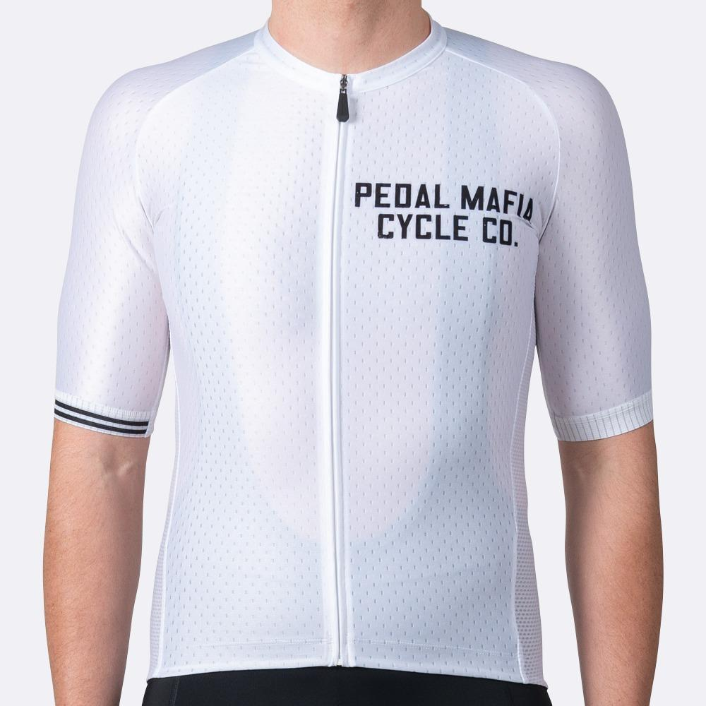 PEDAL MAFIA Artist Series Cycling Jersey for Men - Cycle Co White