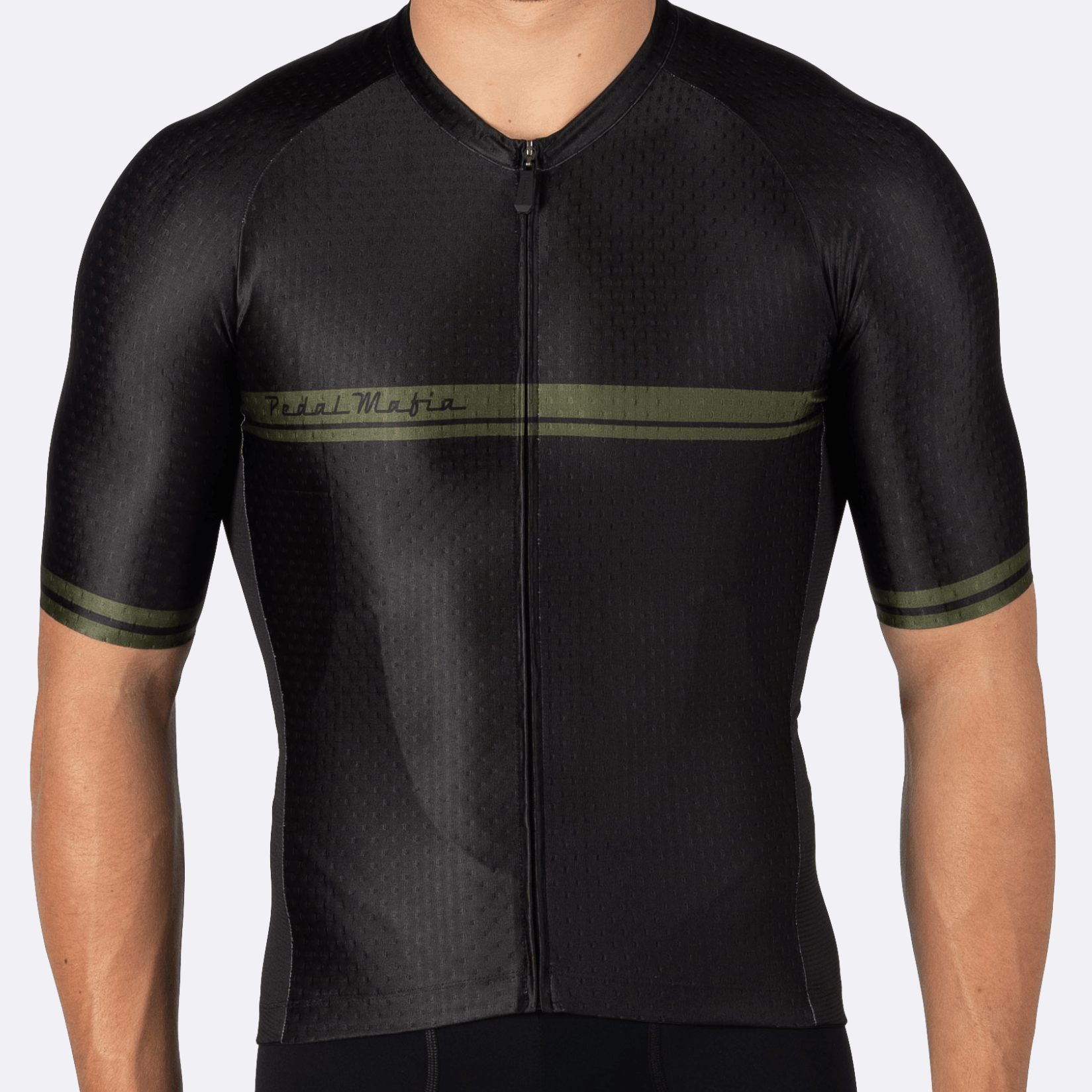 PEDAL MAFIA Core Jersey for Men - Black Olive 2.0