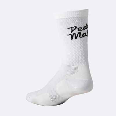 PEDAL MAFIA Tech Sock - Double Stack White