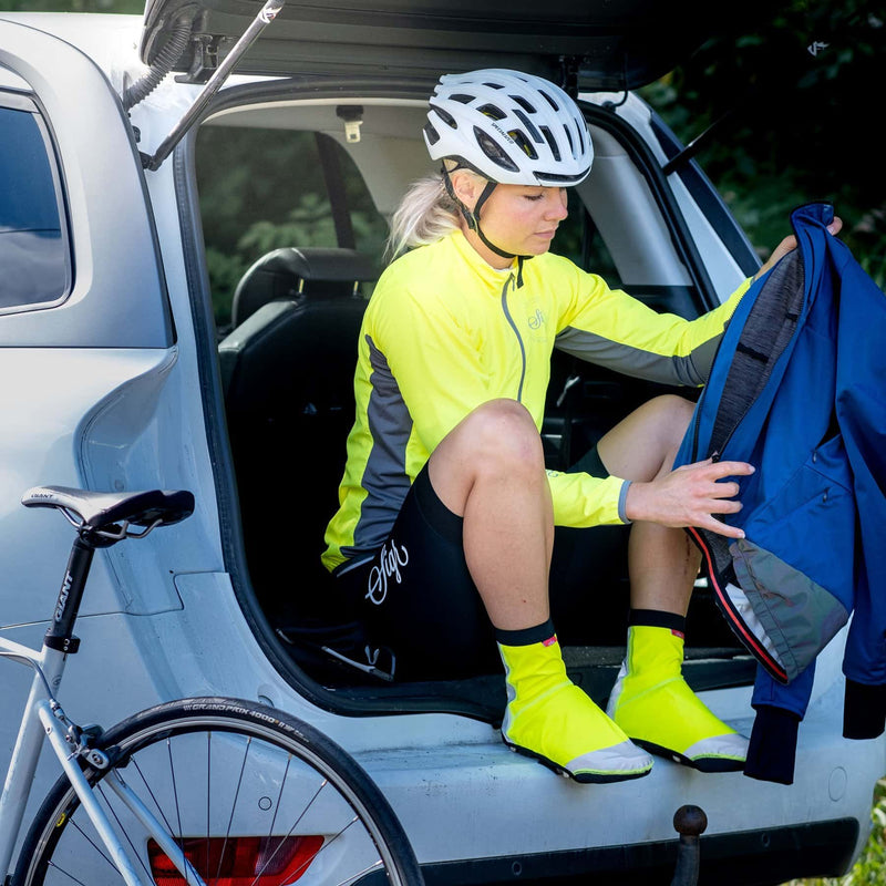 SIGR 'Gulsparv' HI-VIZ Cycling Shoe Covers