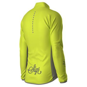 SIGR Uppsala Yellow Hi-Viz Cycling Wind Jacket for Men