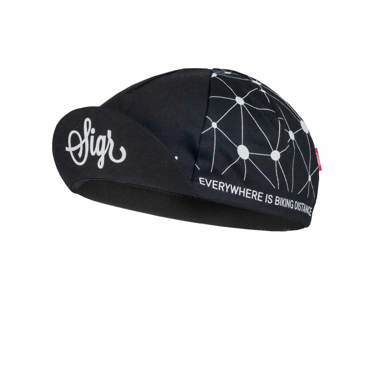SIGR 'Sidensvans' Cycling Cap Black