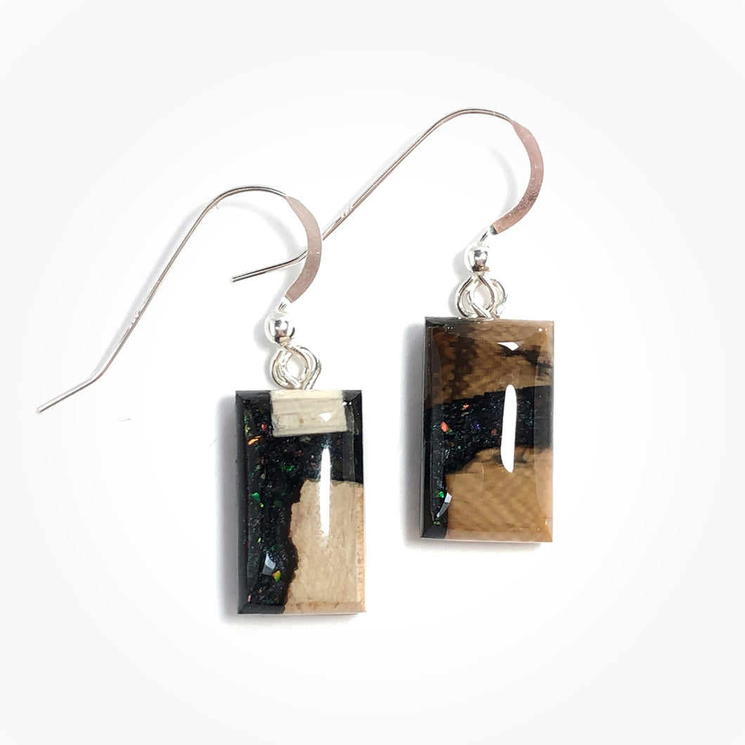 Ammolite_gemstone_micro_flake_and_mammoth_ivory_earrings
