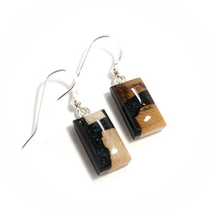 Ammolite_gemstone_micro_flake_and_mammoth_ivory_earrings_black