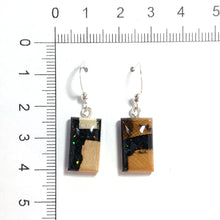Load image into Gallery viewer, Ammolite_gemstone_micro_flake_and_mammoth_ivory_earrings_size