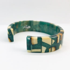 Forest Frost Green Slim Bracelet