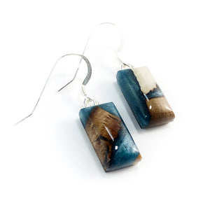 Mammorth_tusk_and_resin_gray_earrings_side_view