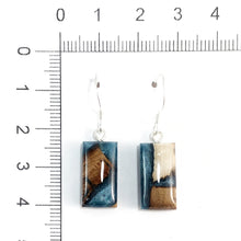 Load image into Gallery viewer, Mammorth_tusk_and_resin_gray_earrings_size