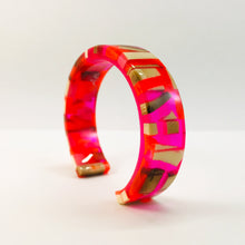 Load image into Gallery viewer, Mammoth_ivory_and_resin_bracelet_jewellery_pink