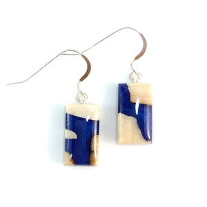 Mammoth_ivory_and_resin_jewelry_Hook_earrings_blue