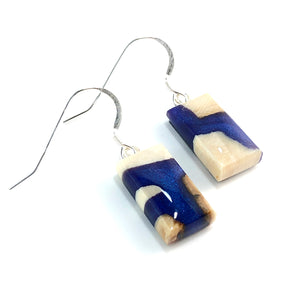 Mammoth_ivory_and_resin_jewelry_Hook_earrings_blue_side