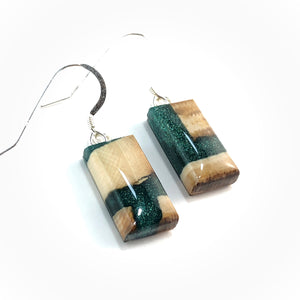 Mammoth_tooth__and_resin_earrings_forest_green_side_view