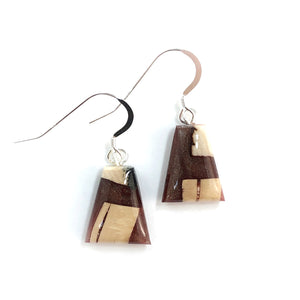 Mammoth_tusk_and_resin_jewelry_Hook_earrings_brown_flare