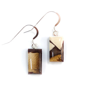 Mammoth_tusk_and_resin_jewelry_Hook_earrings_brown_rectangle