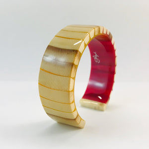 Mammoth Ivory Red and Gold Slim Bracelet